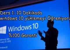 Windows 10 Nasıl Yüklemek