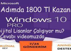 Windows 10 Dijital Lisans Anahtarı